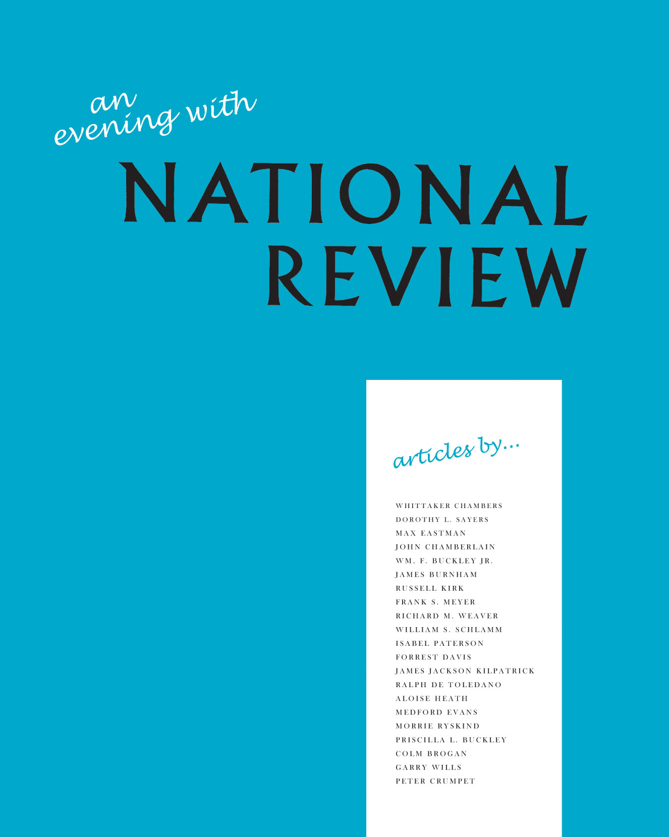 An Evening with <em>National Review</em>: Some Memorable Articles from the First Five Years